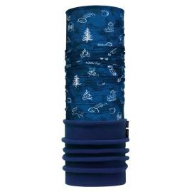 Jr 8-12 Buff POLAR FUNNY CAMP NAVY